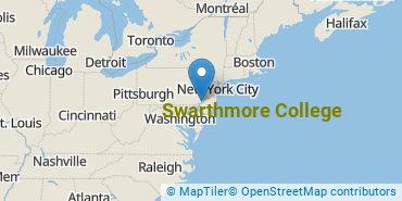 Location of Swarthmore College