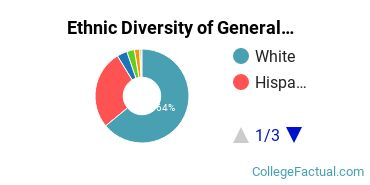 Ethnic Diversity of General Architecture Majors at Texas A&M University - College Station