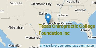 Location of Texas Chiropractic College Foundation Inc