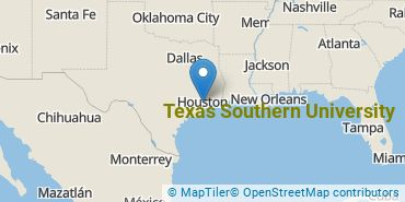 Location of Texas Southern University