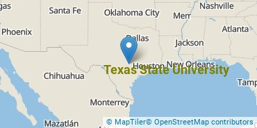 Location of Texas State University