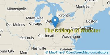Location of The College of Wooster