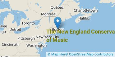 Location of The New England Conservatory of Music