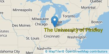 Location of The University of Findlay