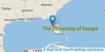 Location of The University of Tampa