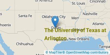 Location of The University of Texas at Arlington