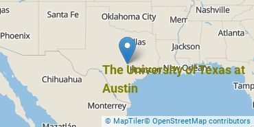 Location of The University of Texas at Austin