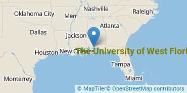 Location of The University of West Florida