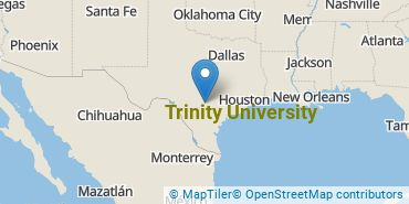 Location of Trinity University