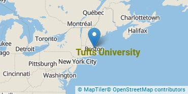 Location of Tufts University