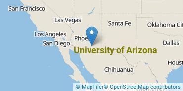Location of University of Arizona