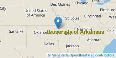 Location of University of Arkansas
