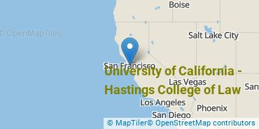 Location of University of California - Hastings College of Law