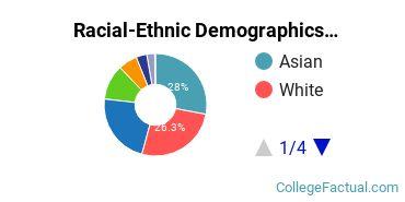 University of California - Los Angeles Undergraduate Racial-Ethnic Diversity Pie Chart