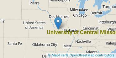 Location of University of Central Missouri
