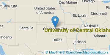 Location of University of Central Oklahoma
