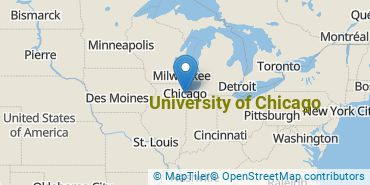 Location of University of Chicago