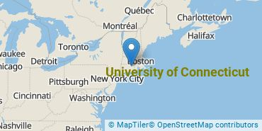 Location of University of Connecticut