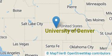 Location of University of Denver