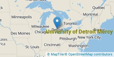 Location of University of Detroit Mercy