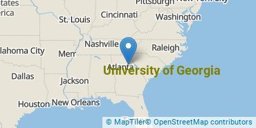 Location of University of Georgia