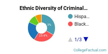 Ethnic Diversity of Criminal Justice & Corrections Majors at University of Houston - Downtown