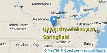 Location of University of Illinois at Springfield