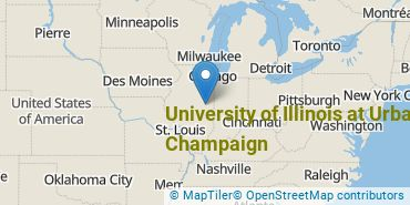 Location of University of Illinois at Urbana-Champaign