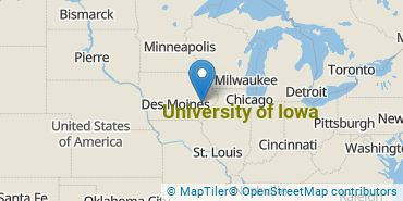 Location of University of Iowa