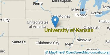 Location of University of Kansas