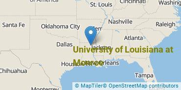 Location of University of Louisiana at Monroe