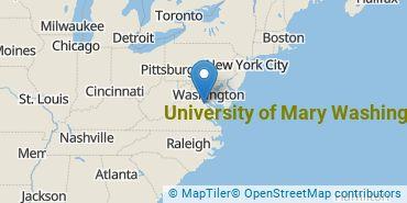 Location of University of Mary Washington