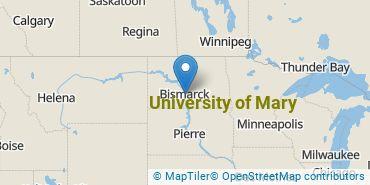 Location of University of Mary