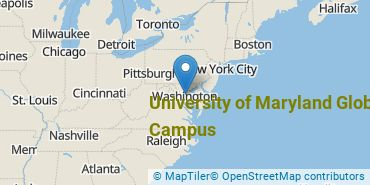 Location of University of Maryland Global Campus