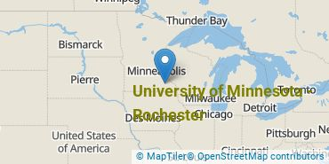 Location of University of Minnesota - Rochester