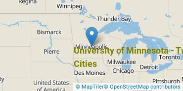 Location of University of Minnesota - Twin Cities