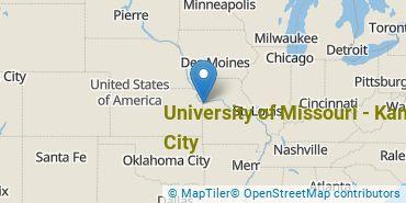 Location of University of Missouri - Kansas City