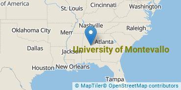 Location of University of Montevallo