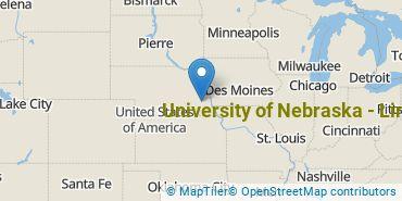 Location of University of Nebraska - Lincoln