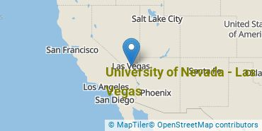 Location of University of Nevada - Las Vegas