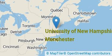 Location of University of New Hampshire at Manchester