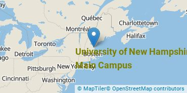 Location of University of New Hampshire - Main Campus