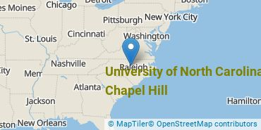 Location of University of North Carolina at Chapel Hill