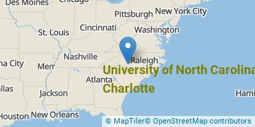 Location of University of North Carolina at Charlotte