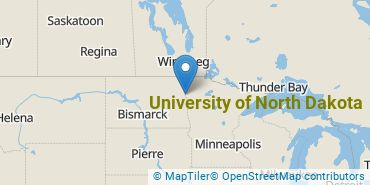 Location of University of North Dakota