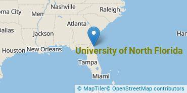 Location of University of North Florida