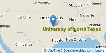 Location of University of North Texas