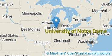 Location of University of Notre Dame