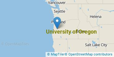 Location of University of Oregon