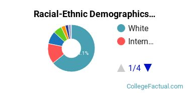University of Oregon Graduate Students Racial-Ethnic Diversity Pie Chart